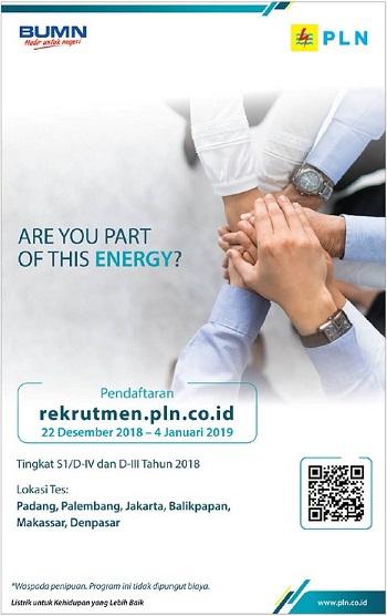 REKRUTMEN PLN GROUP TINGKAT S1/D4 & D3 (2019)